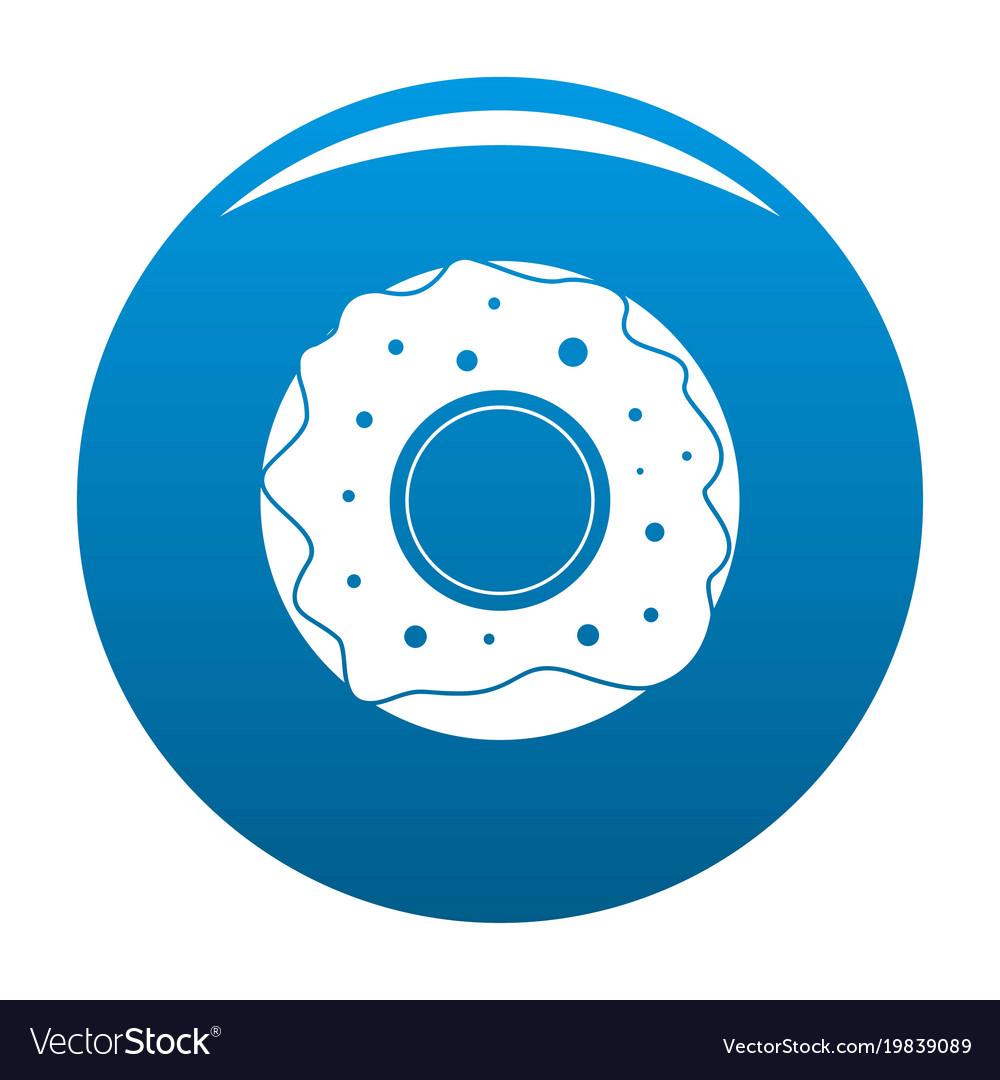 Donut icon blue