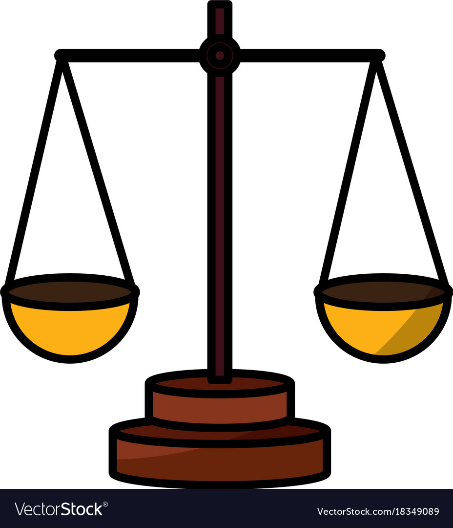 Balance Justice justice balance symbol royalty free vector image