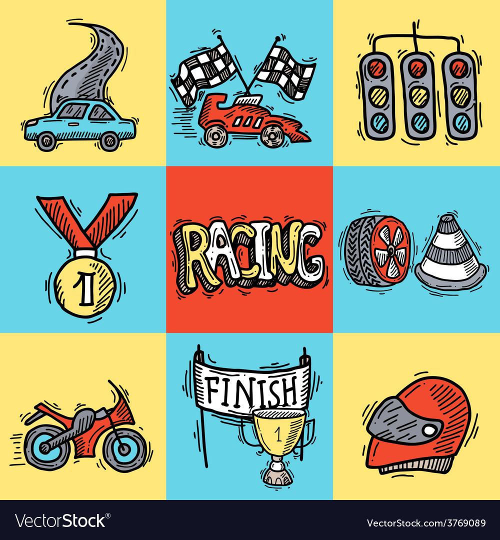Racing Design Concept vector image