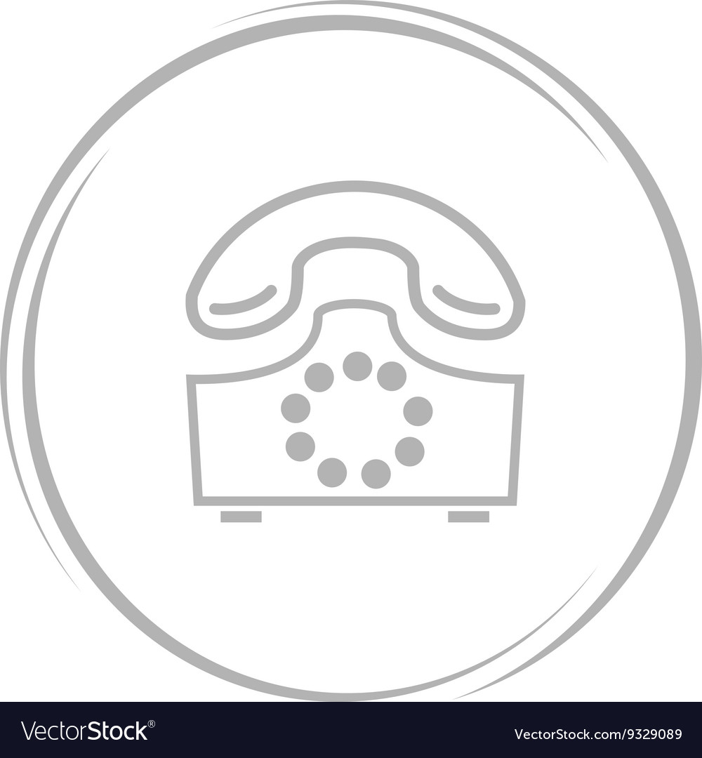 Rotary phone vector image