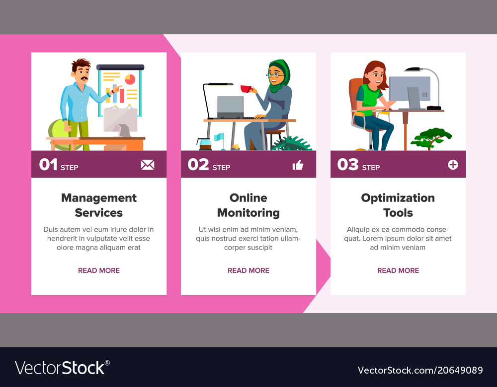 website banners business agency front end vector image