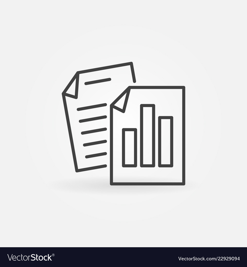 Business reports outline concept minimal