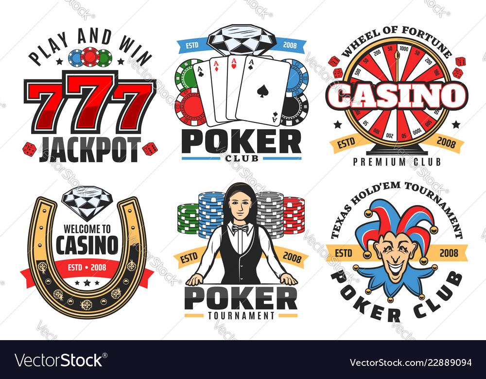 Casino poker game jackpot gambling icons