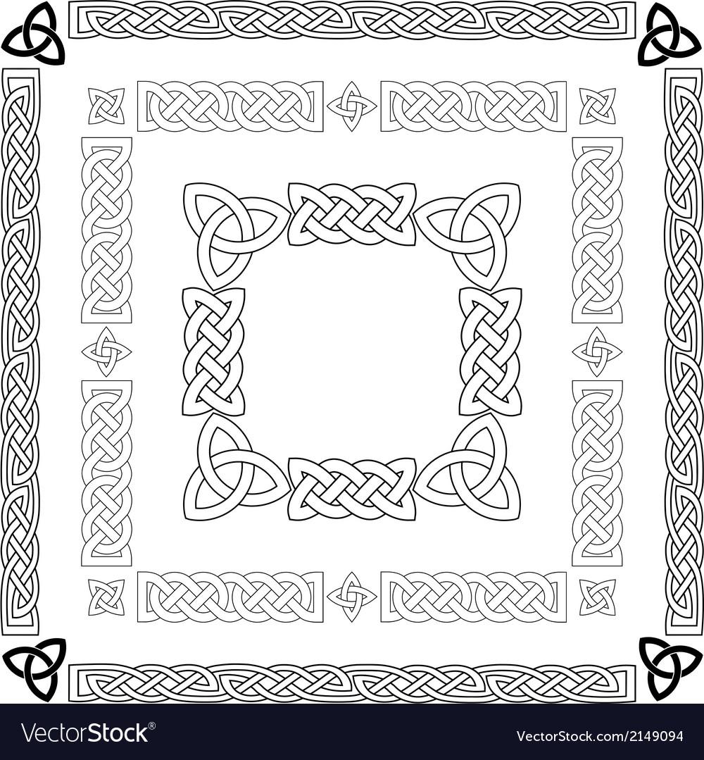 Celtic knots patterns frameworks vector image