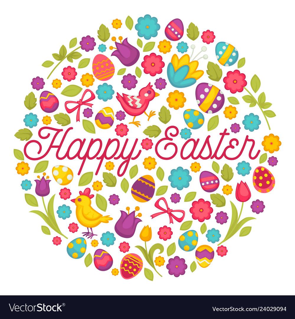 Easter holiday celebration symbolic animals and