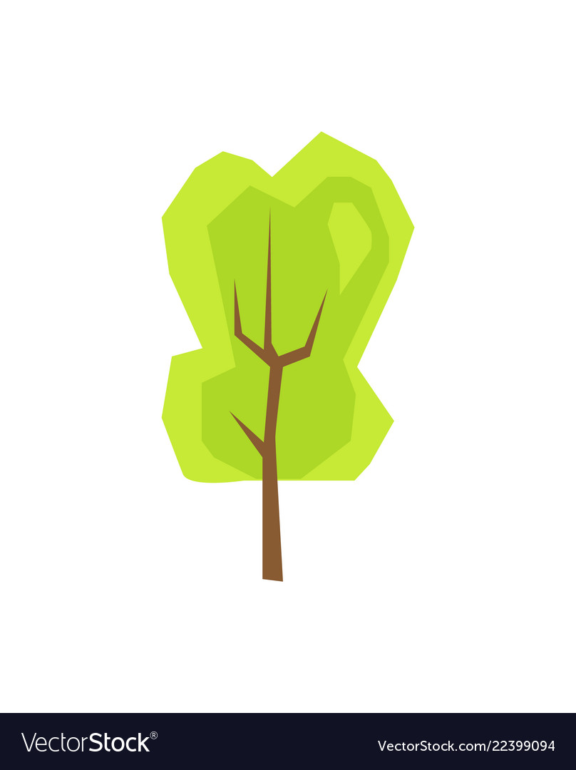 Green tree plant icon isolated