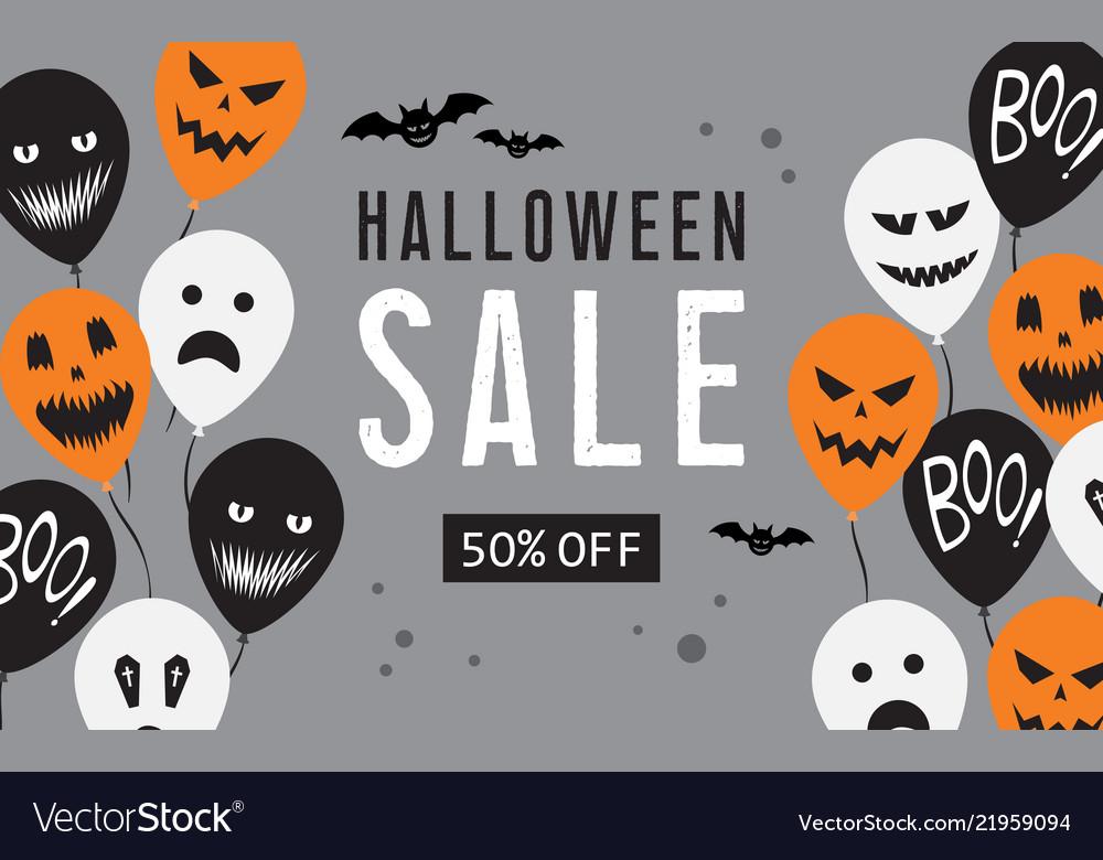 Happy Halloween sale greeting background, vector - vector clipart