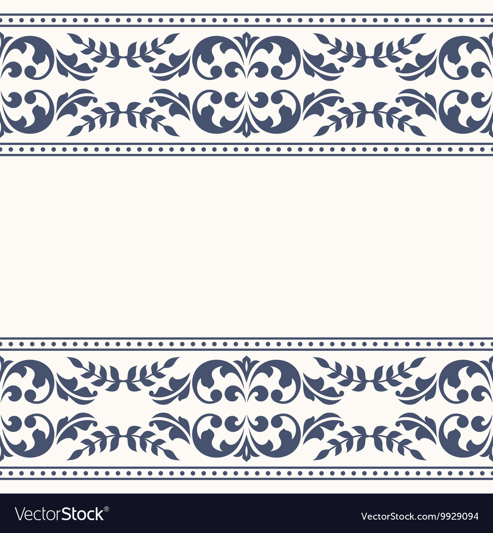 Invitation card with vintage ornament vector image
