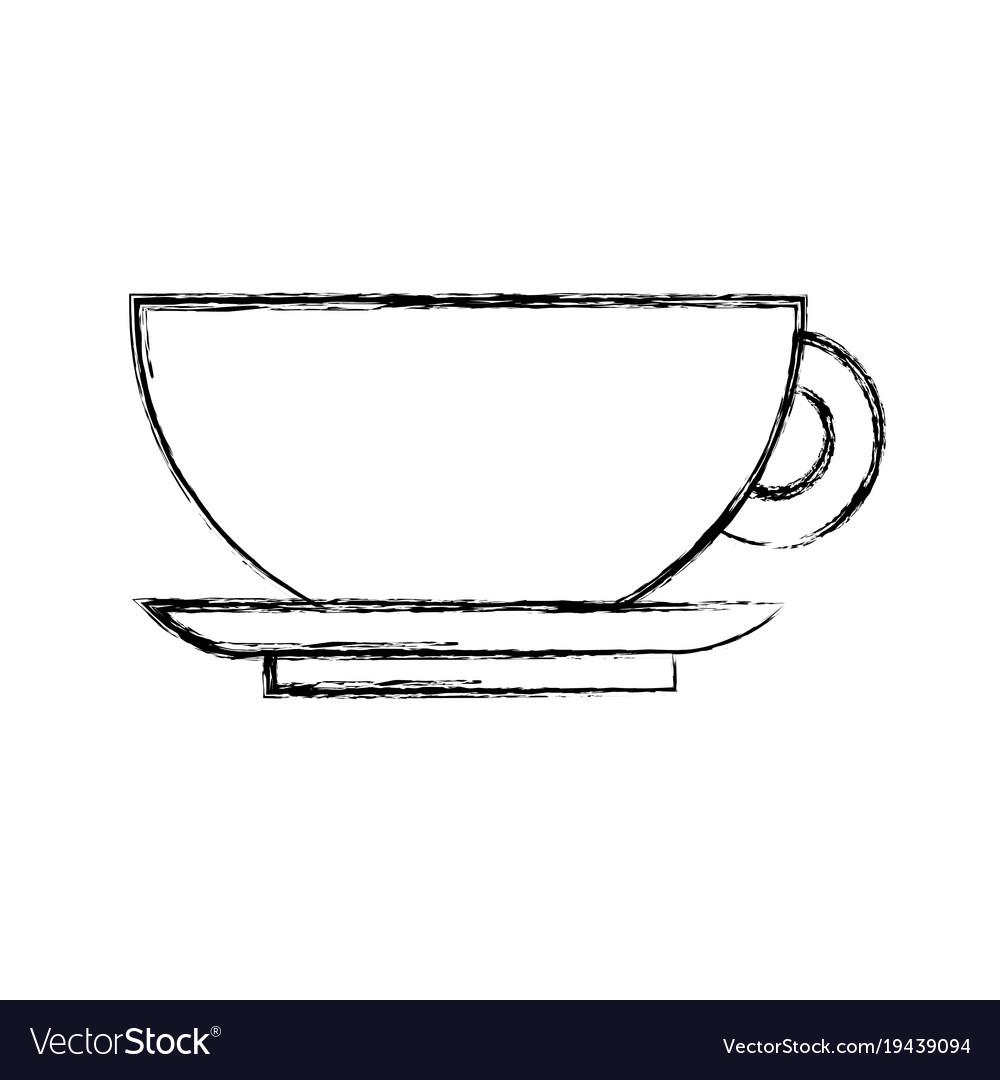 Mug and dish vector image