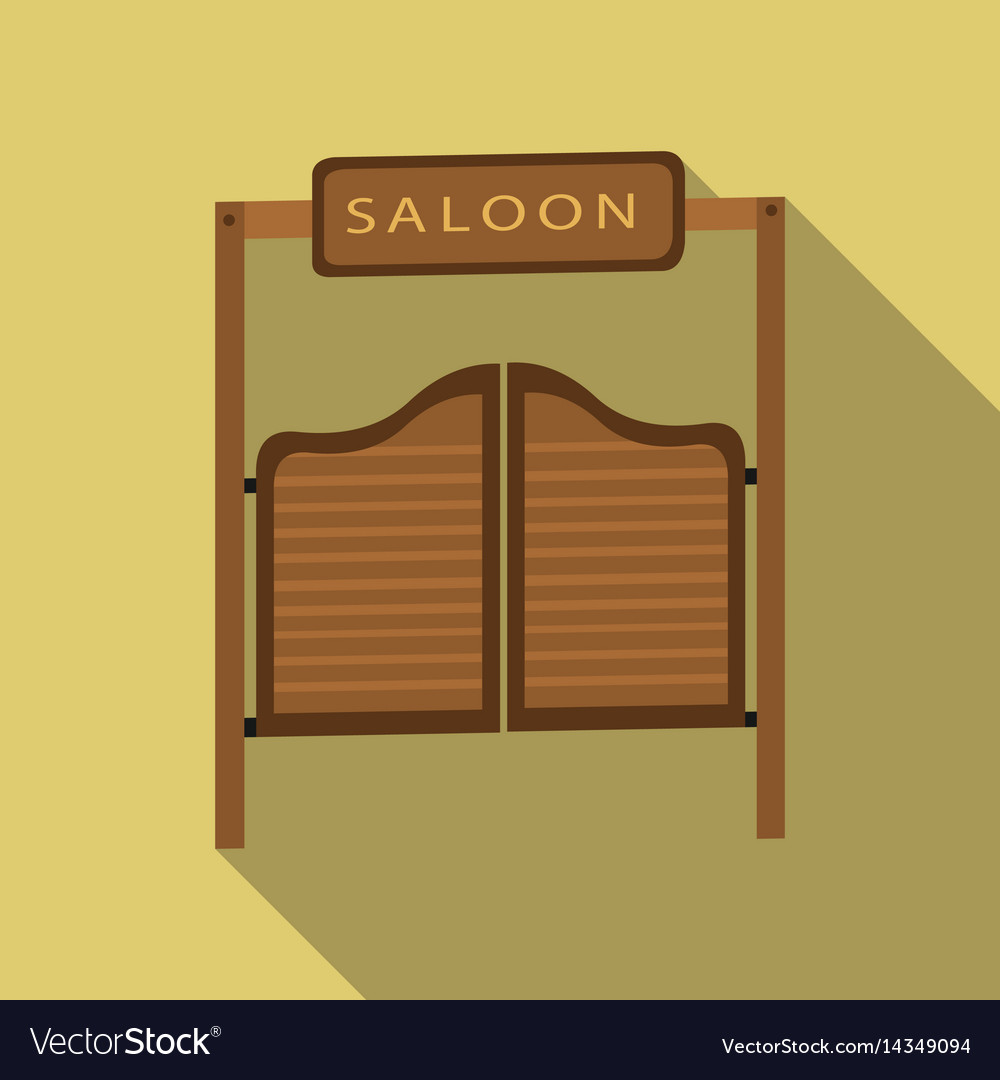 Saloon icon flate singe western icon from the vector image