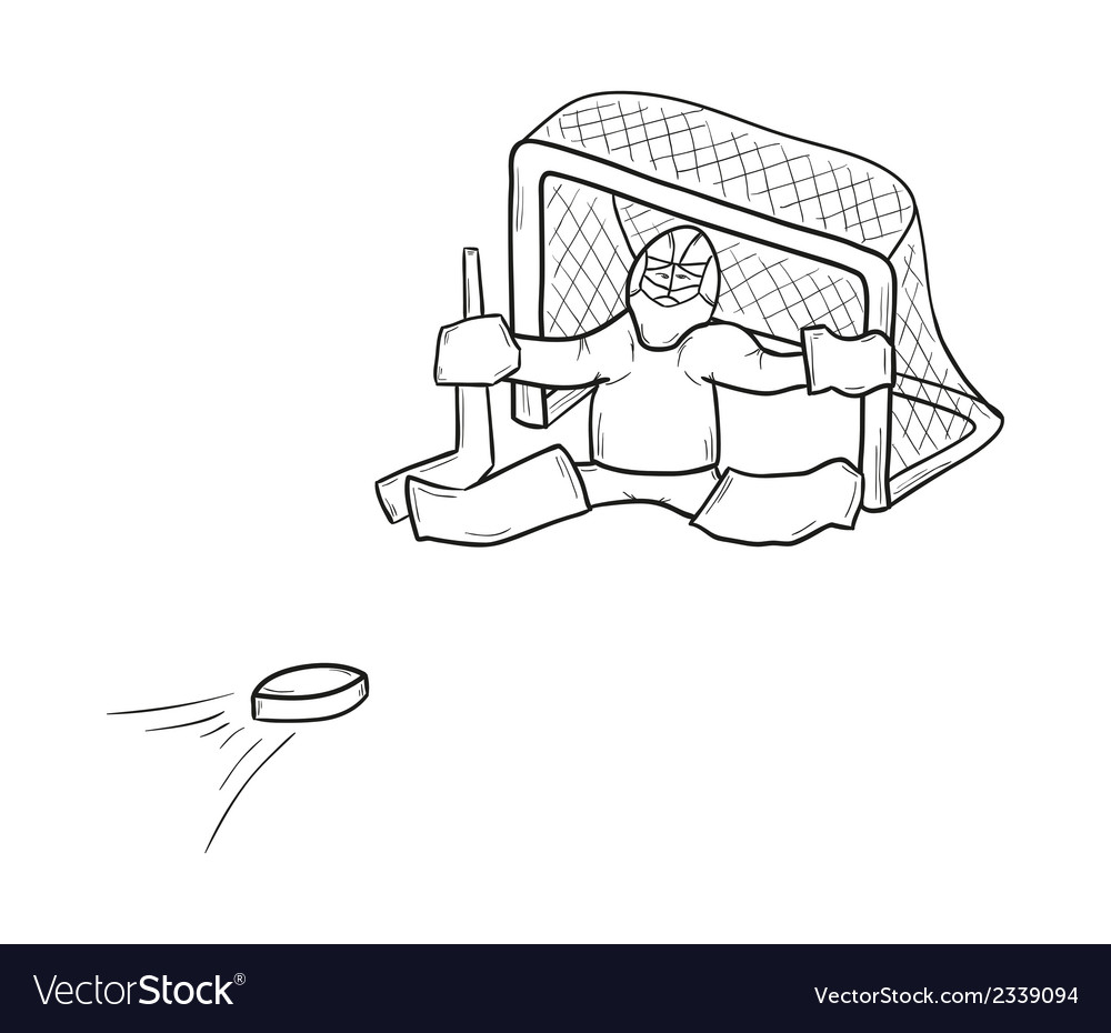 Sketch of the goalkeeper