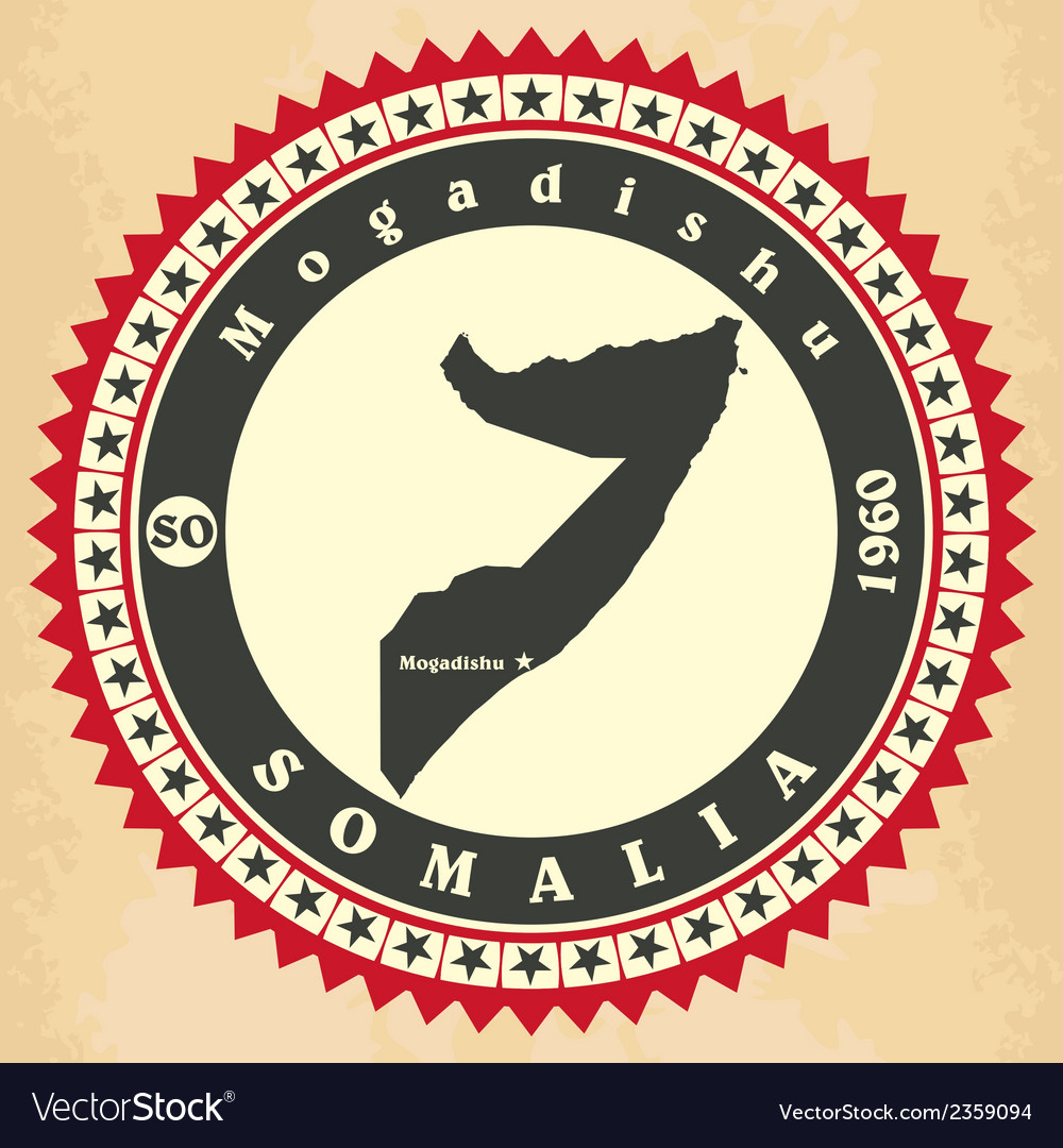 Vintage label-sticker cards of Somalia