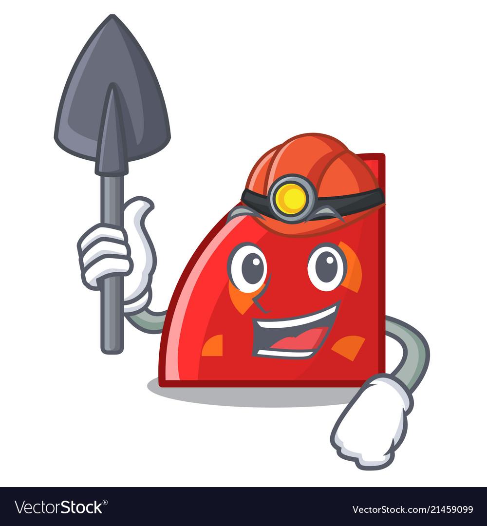 Miner quadrant mascot cartoon style