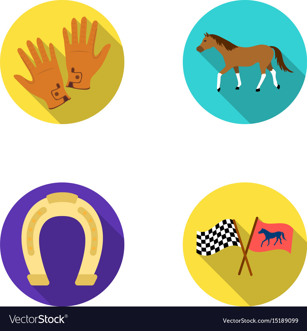 Race track horse animal hippodrome and horse vector image