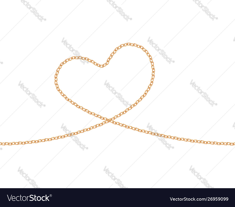 Realistic golden chain texture gold chains link