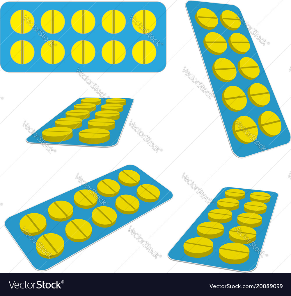 Tablets in blister vector image