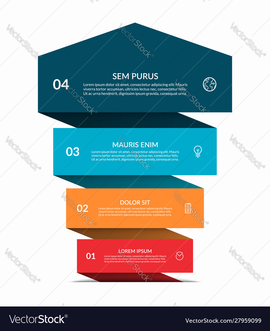 Up arrow infographic banner with 4 steps options