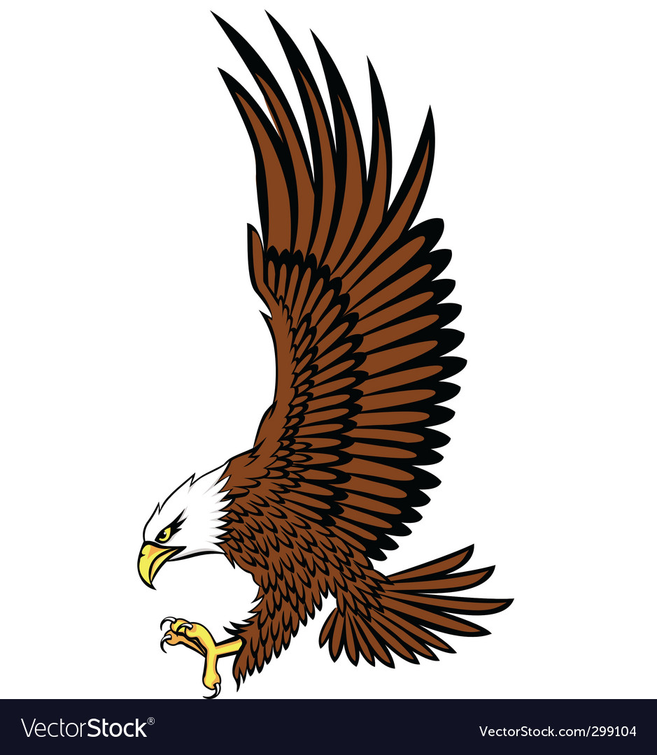 bald eagle royalty free vector image vectorstock rh vectorstock com bald eagle outline vector bald eagle vector free download