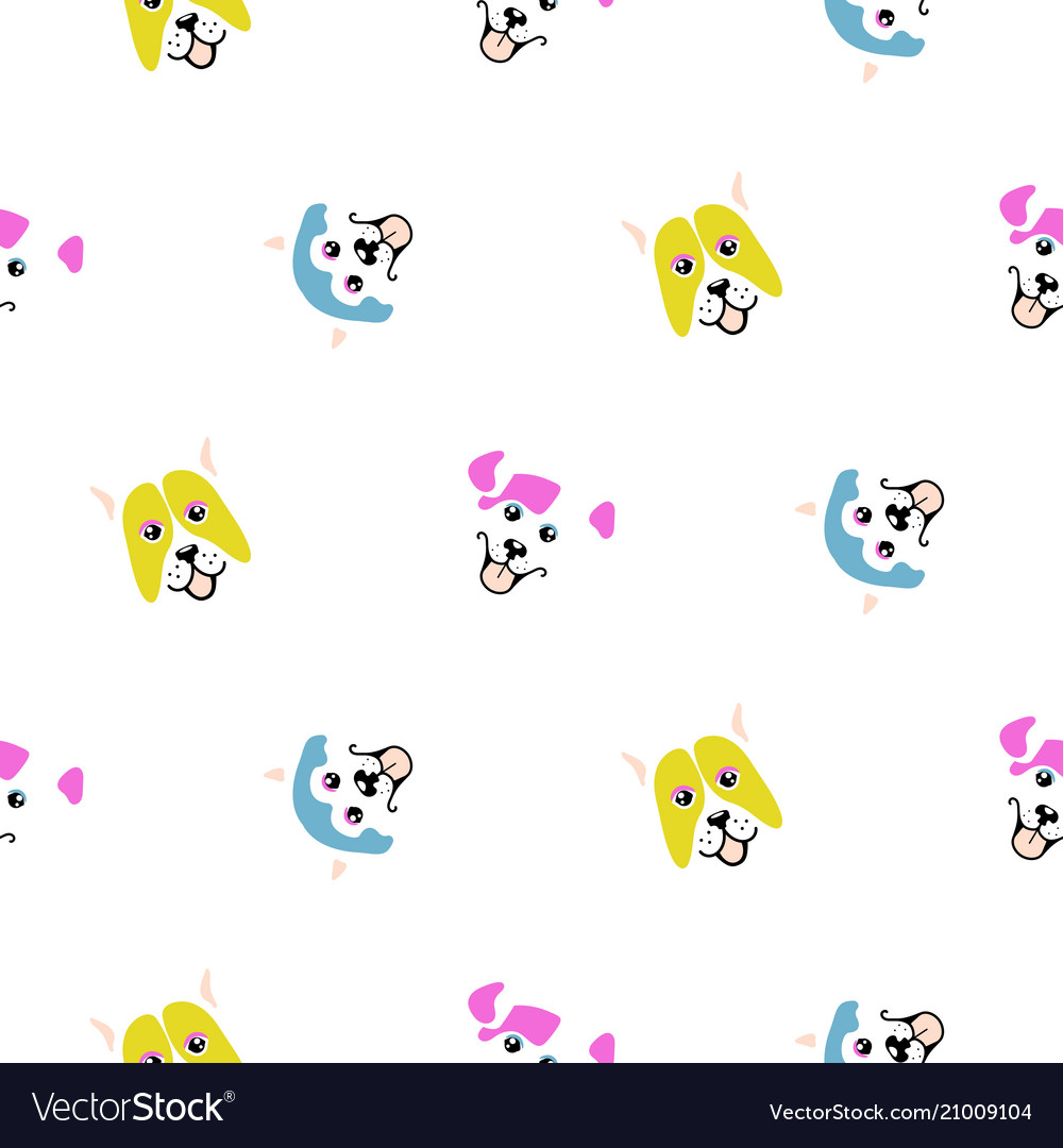 Funny dogs animal seamless pattern