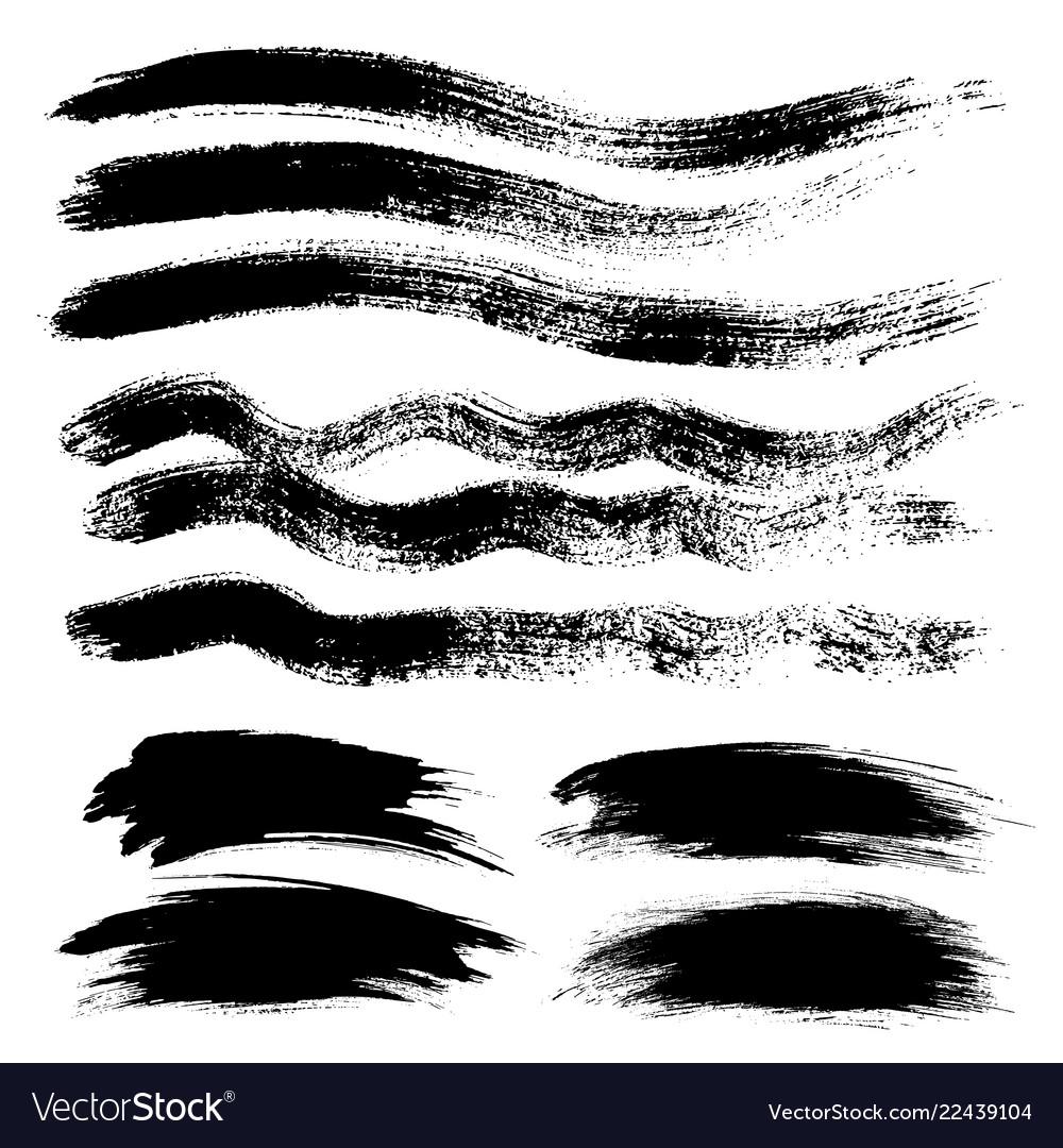 Ink grunge stains brush set