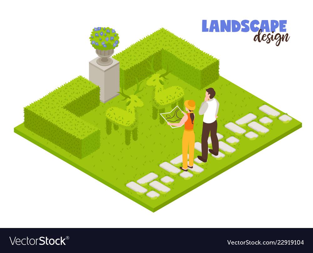 Landscape Design Concept Royalty Free Vector Image
