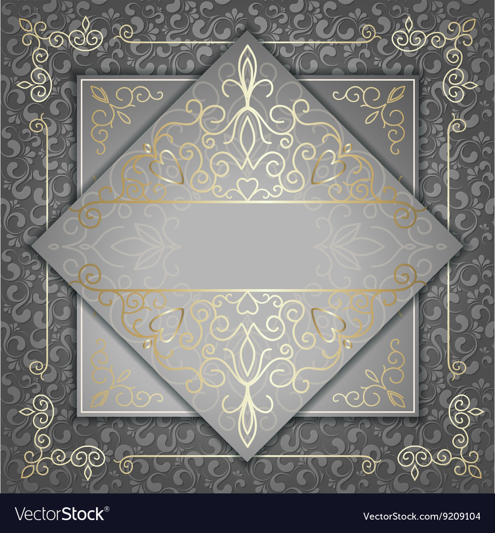Luxury card with golden patterns