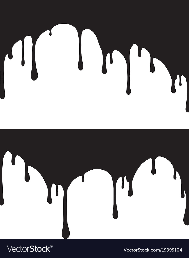 pair of black paint drips for your royalty free vector image rh vectorstock com caramel drips vector paint drips vector free