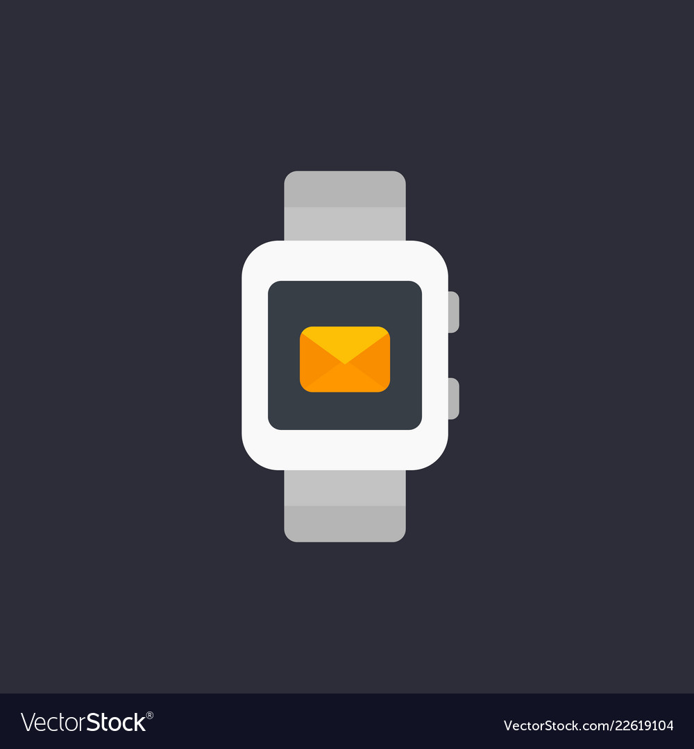 Smart watch with incoming message icon