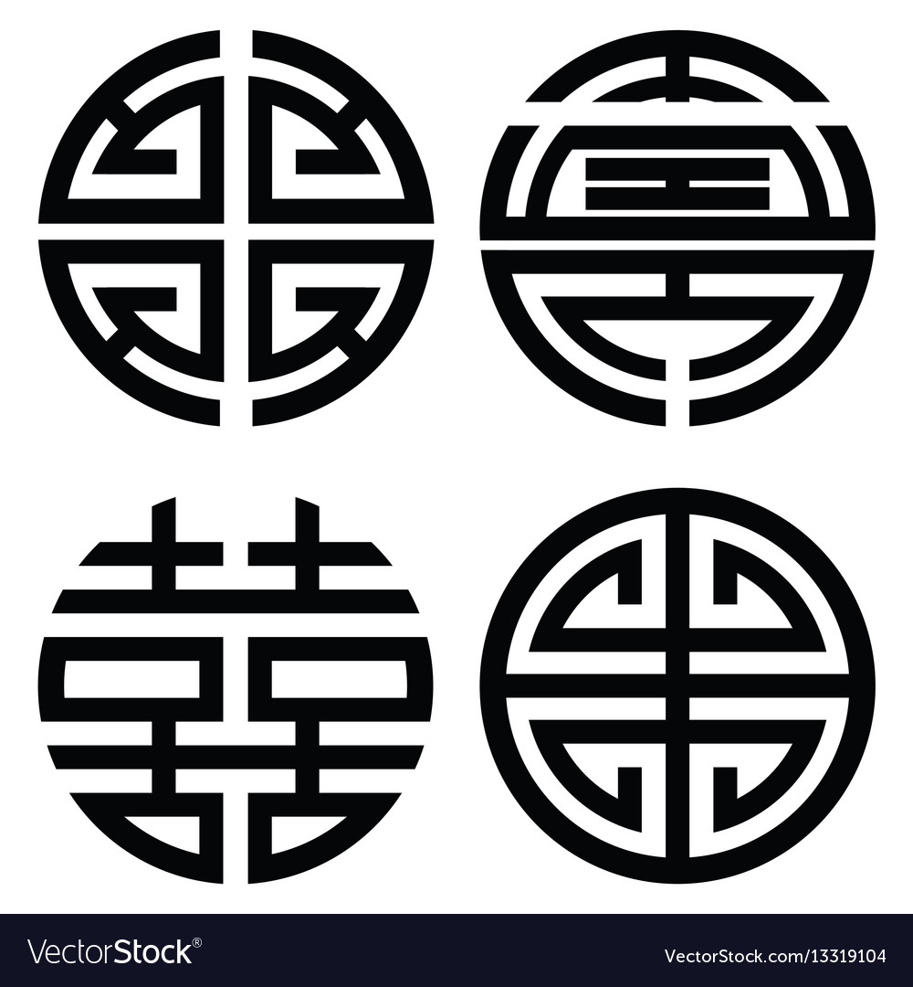 Traditional Oriental Korean Symmetrical Zen Symbol