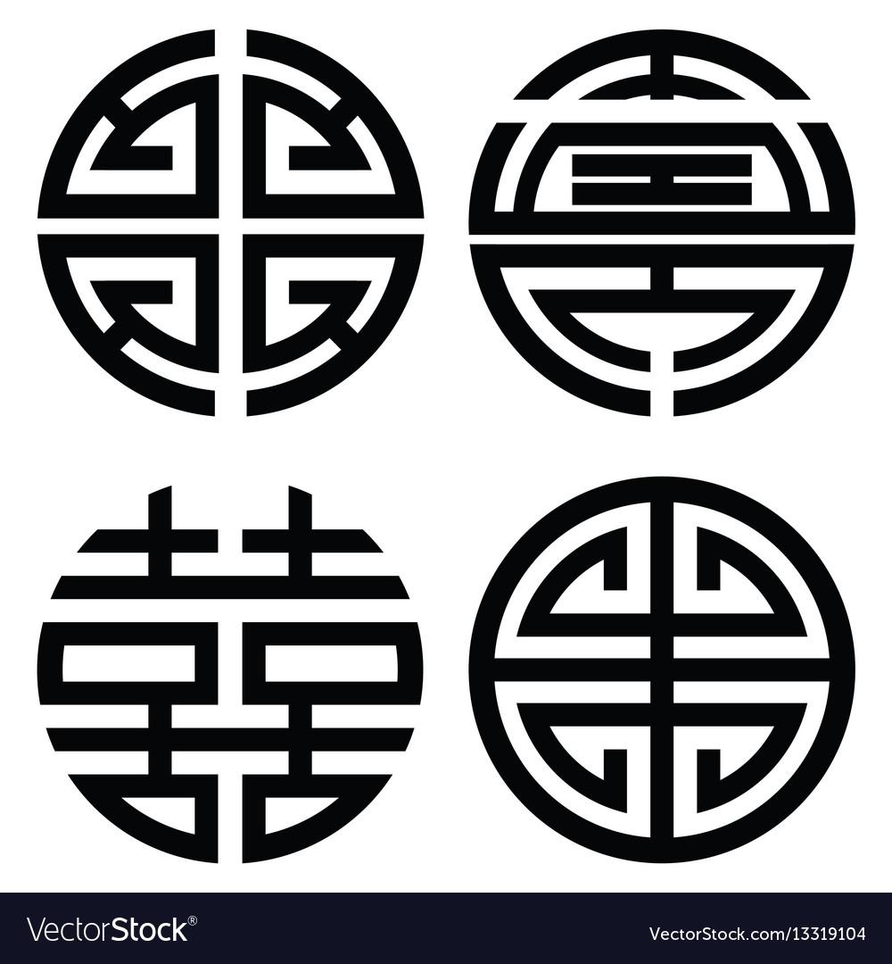 Traditional oriental korean symmetrical zen symbol