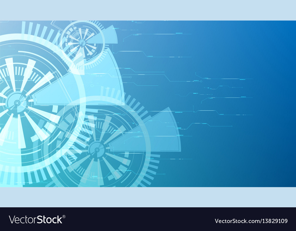Abstract blue technology button backgrounds