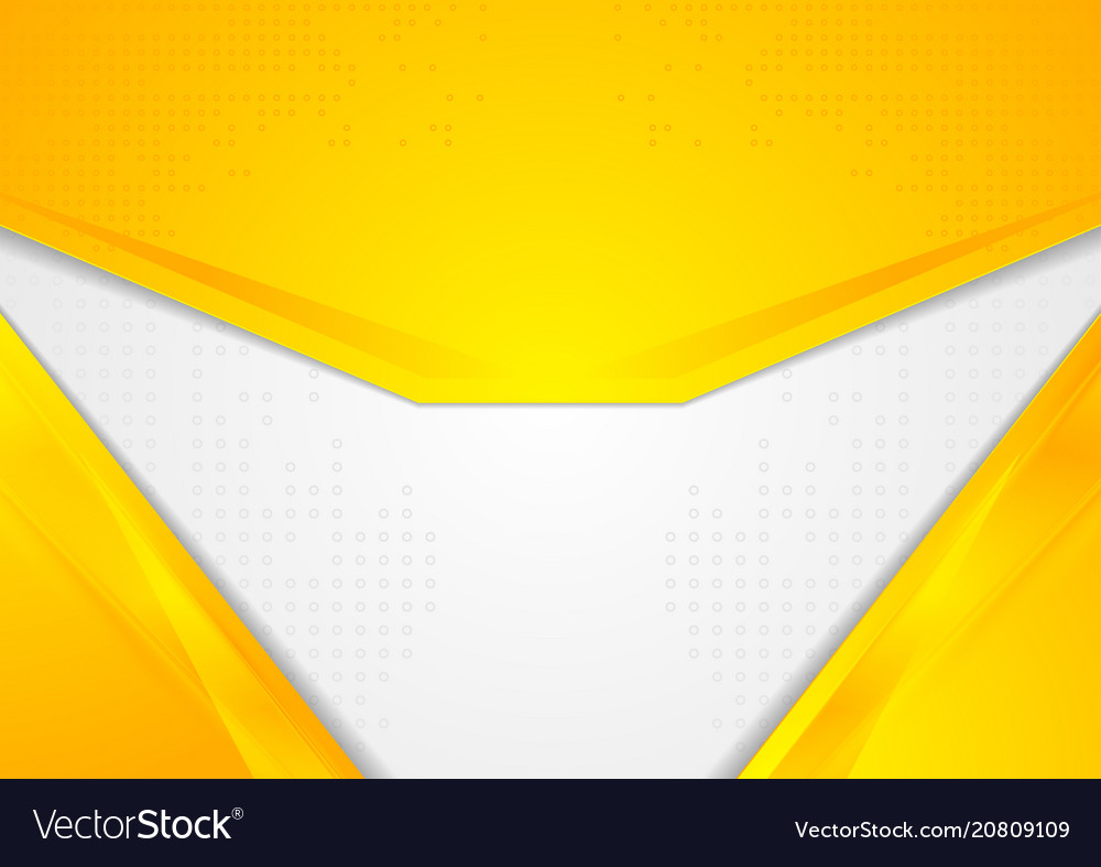 Abstract bright yellow corporate background vector image