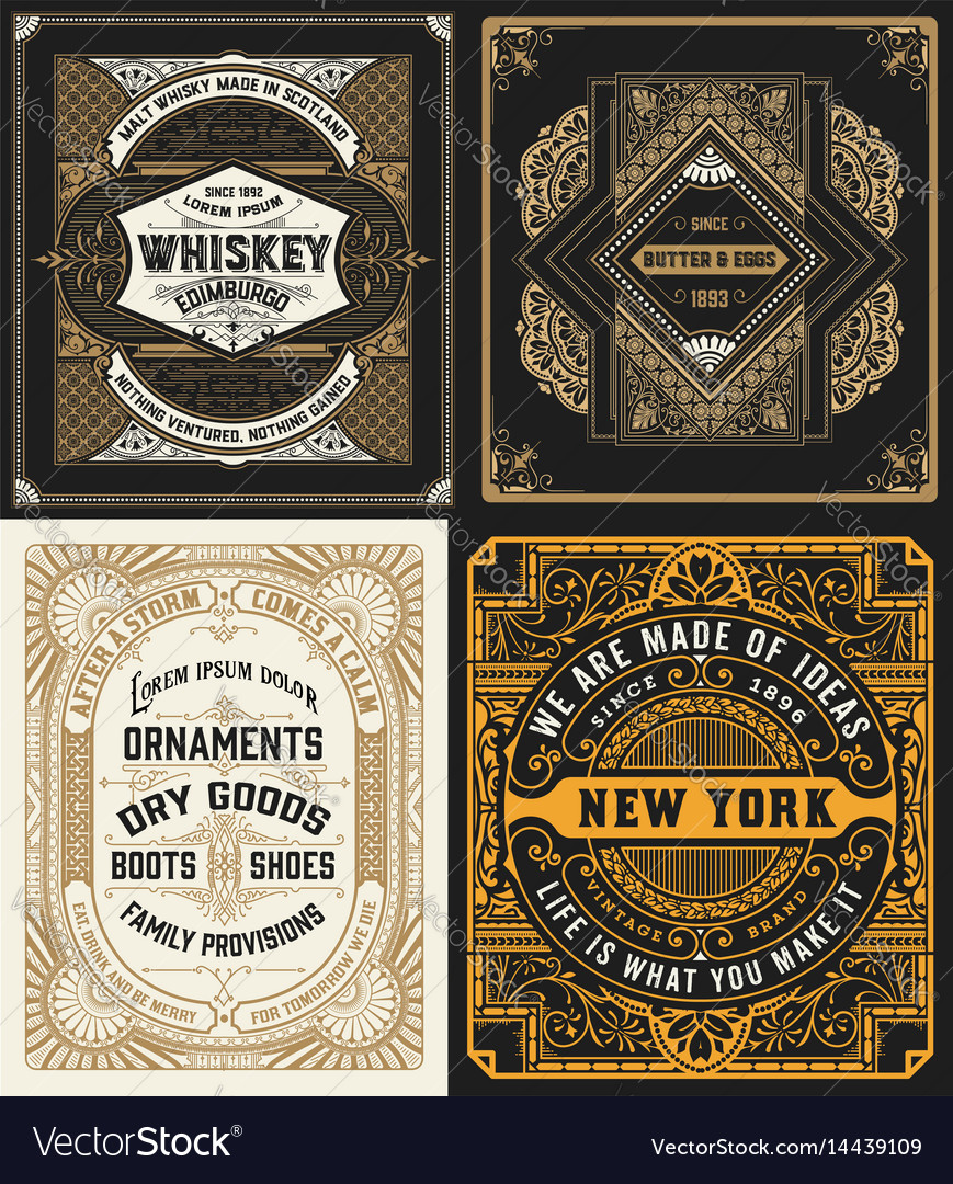 Cards set western style
