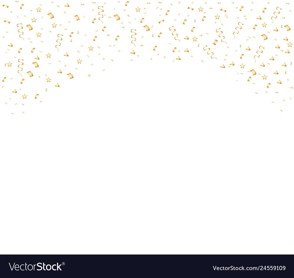 Colorful bright confetti isolated