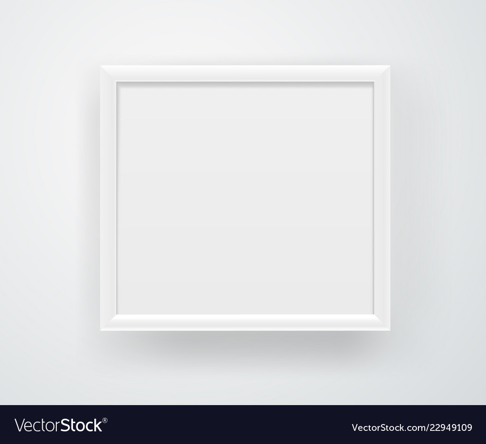Empty Square White Frame On A Wall Layout