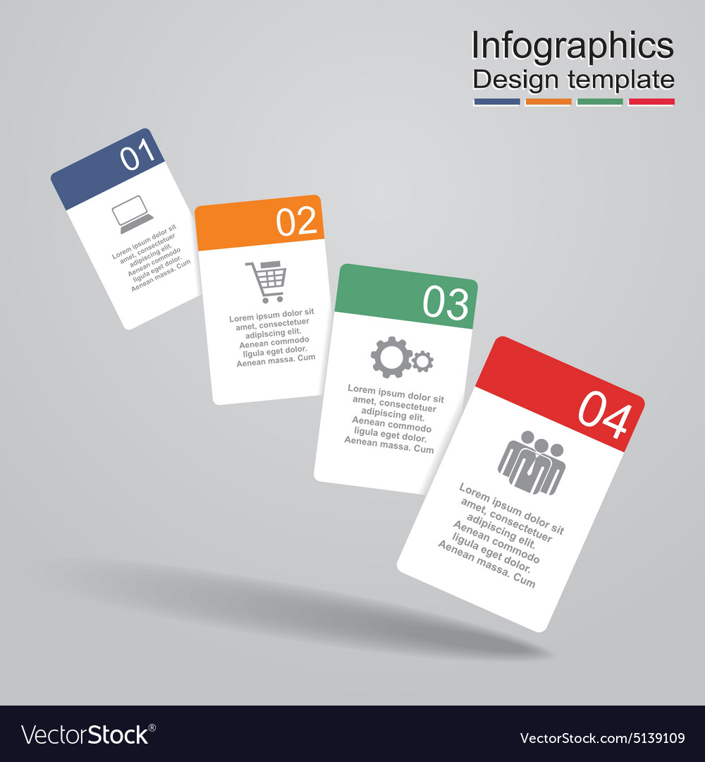 Infographic report template with cards and icons