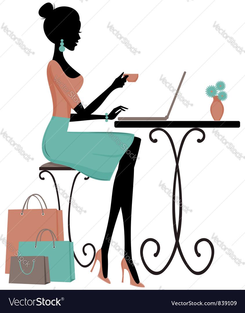 Internet cafe vector image