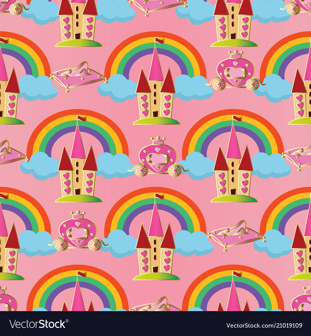 Pink seamless pattern background wallpaper vector image