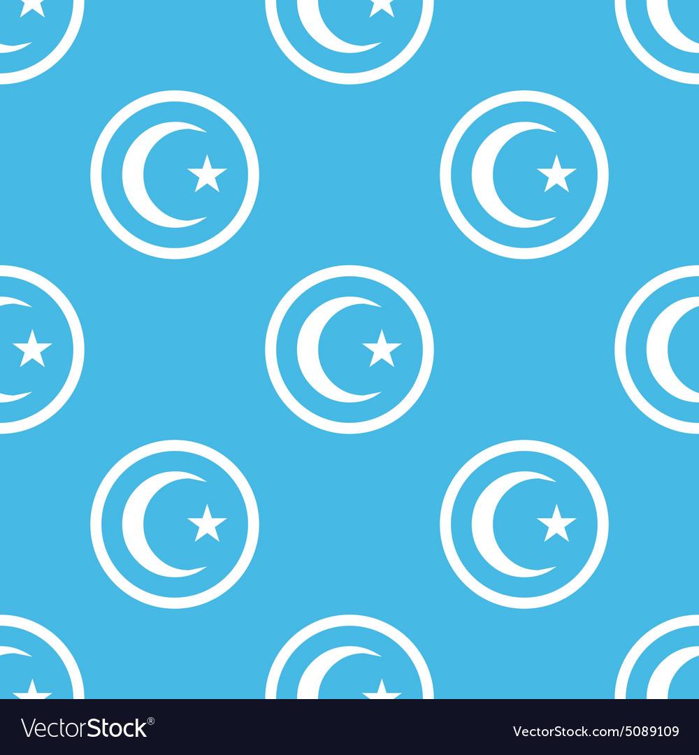 Turkey symbol sign blue pattern