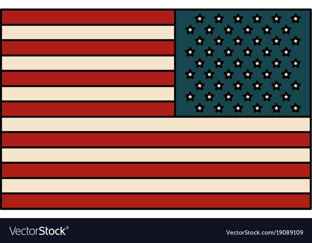 Usa Flag Symbol Royalty Free Vector Image Vectorstock