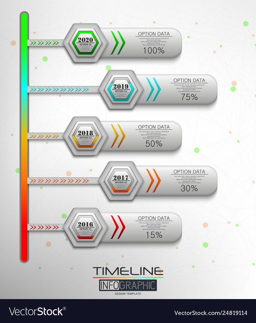 5 steps timeline infographic element