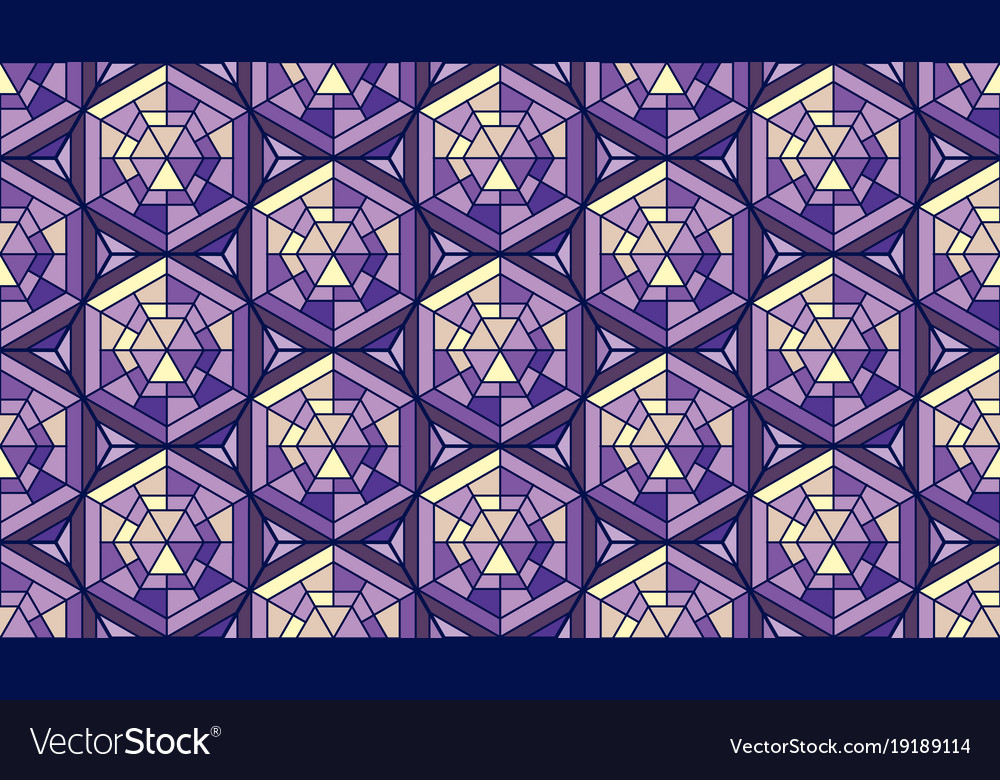 Abstract Pattern In Mosaic Stained Glass Style