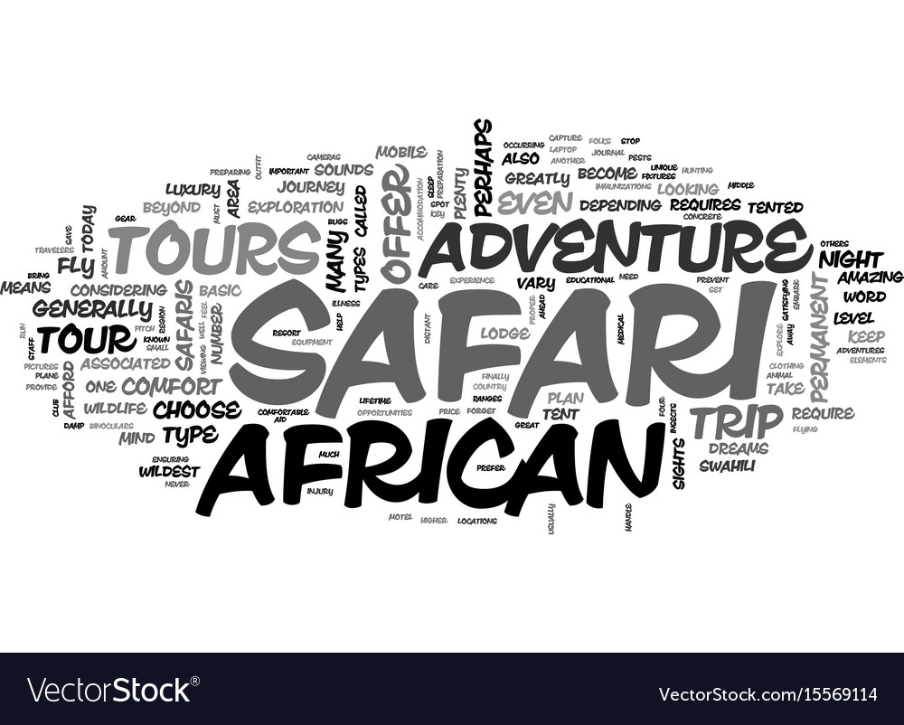 African safari tours offer a unique experience