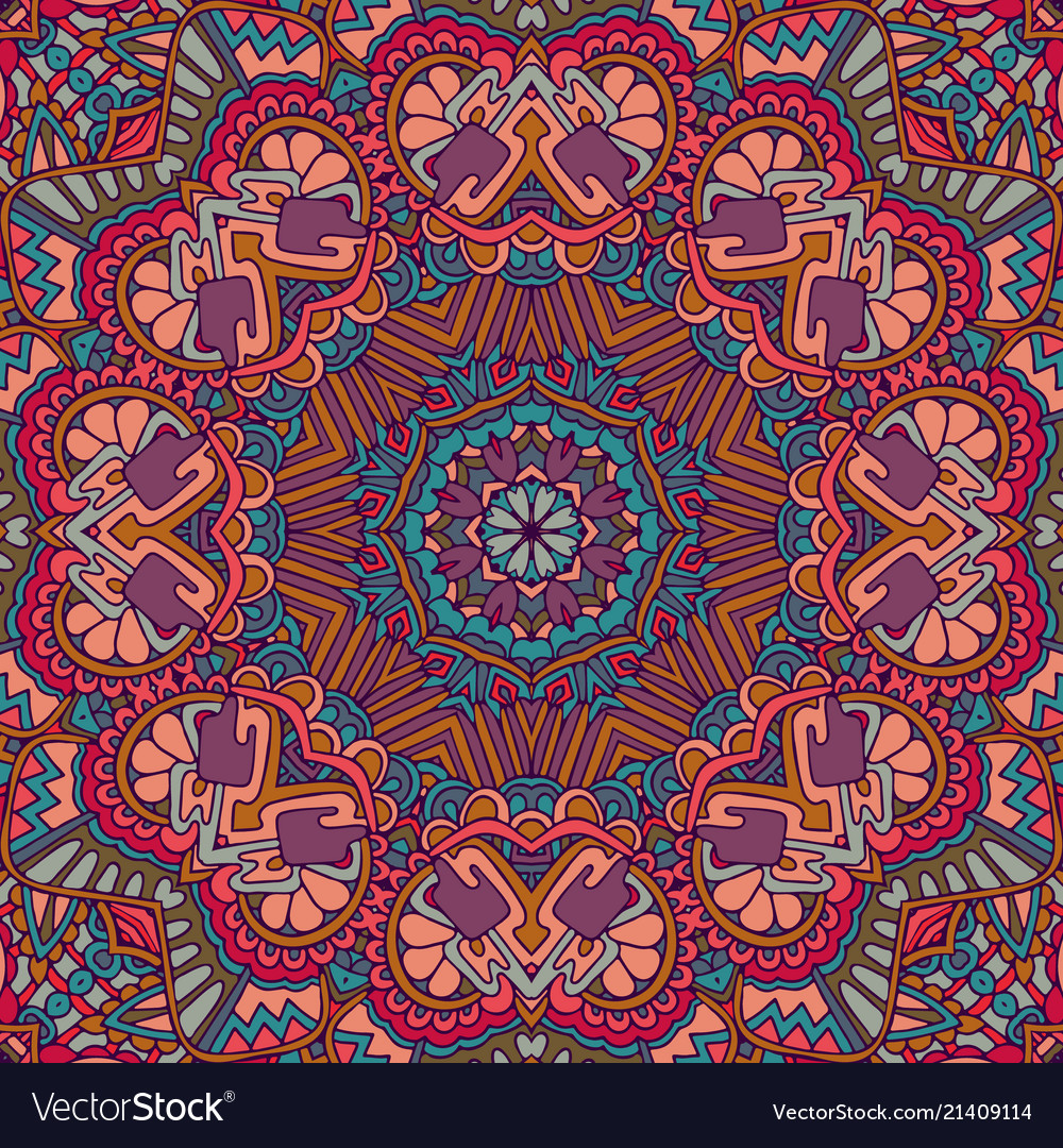 Flower ethnic seamless design