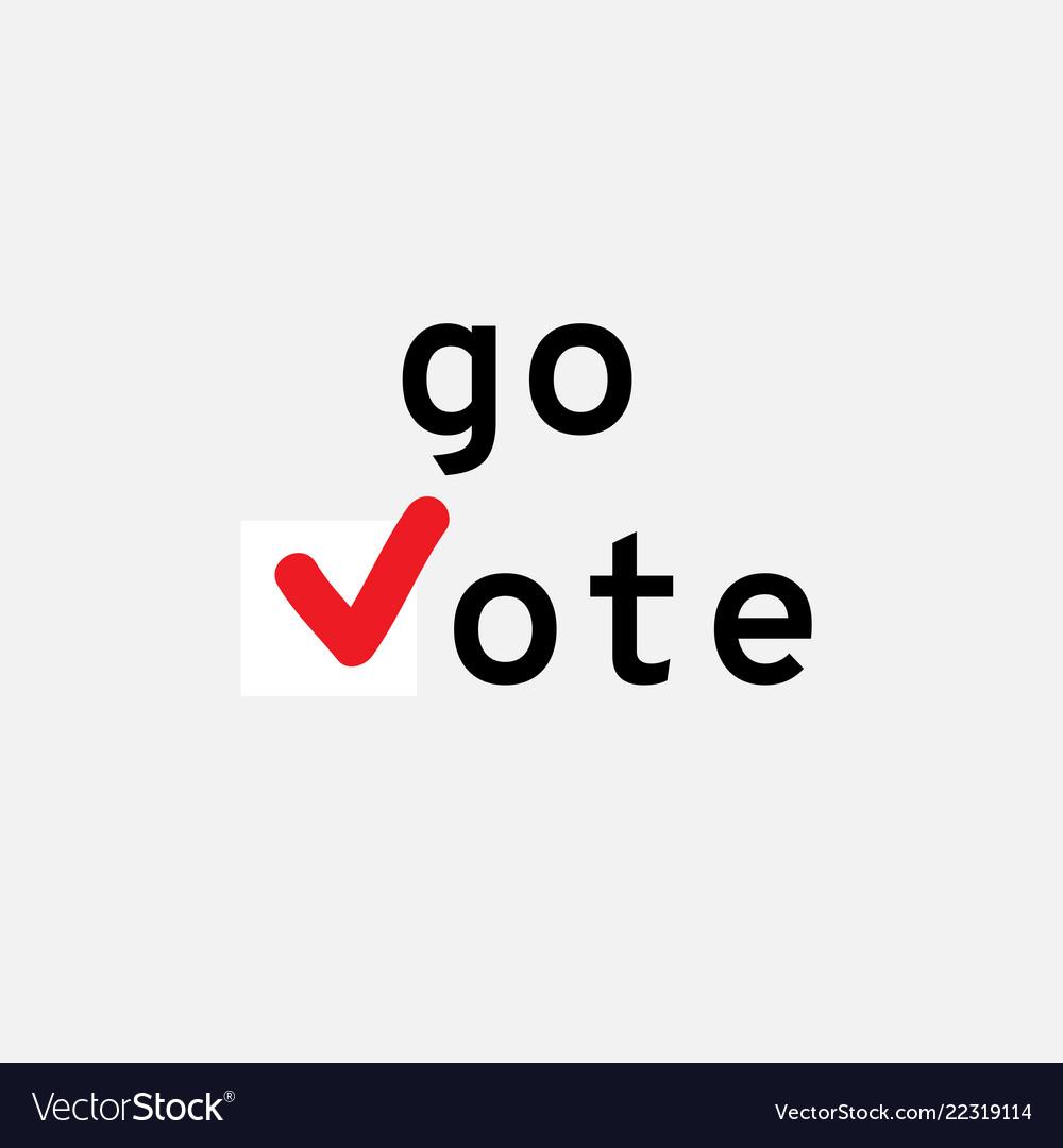 Go vote symbols template check marks