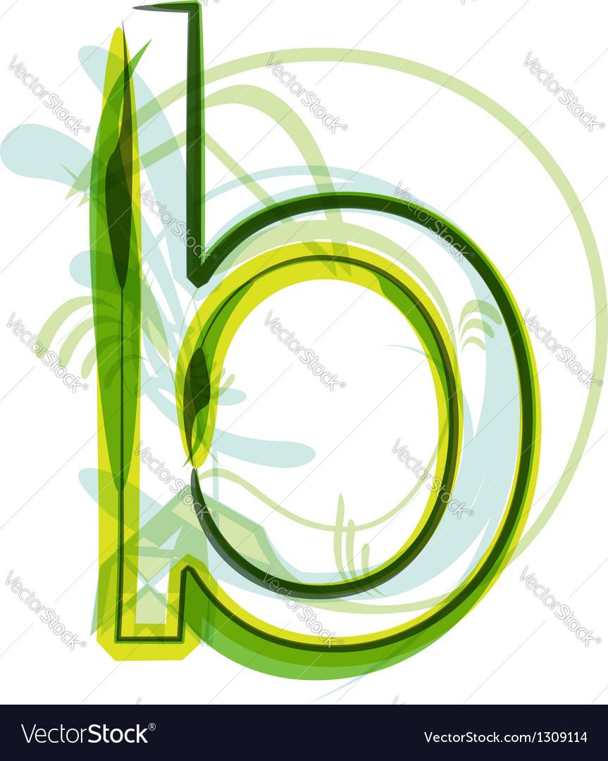 Green letter B