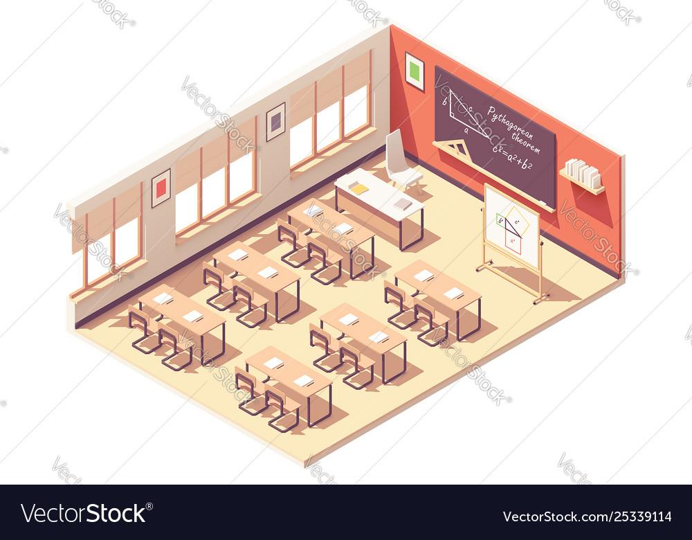 Isometric school mathematics classroom