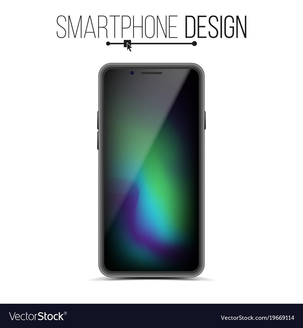Smartphone mockup design black modern