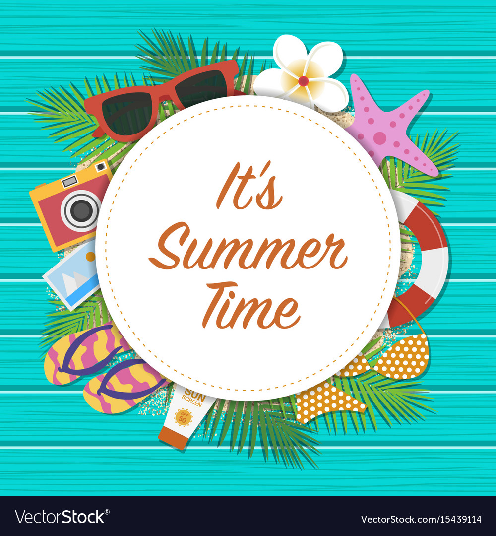 Summer time background summer template