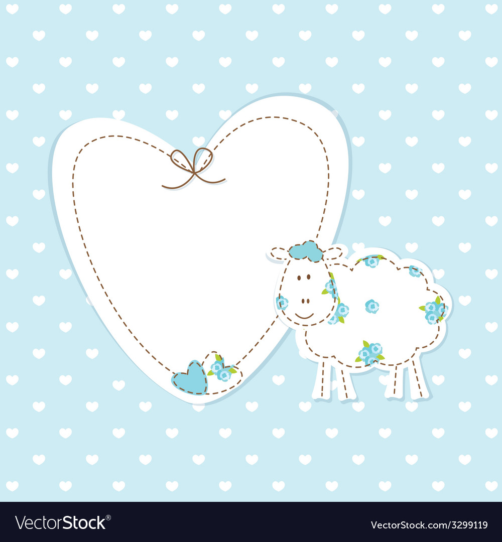 Baby blue background with sheep